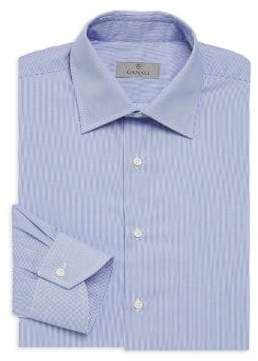 Canali Narrow Bangle Stripe Cotton Dress Shirt