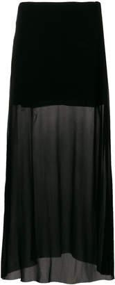 Ann Demeulemeester black see through skirt