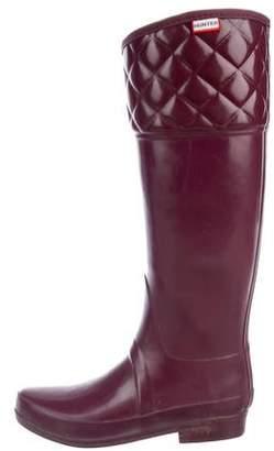 Hunter Round-Toe Knee-Length Boots