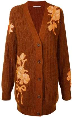 Christopher Kane floral-embroidered cardigan