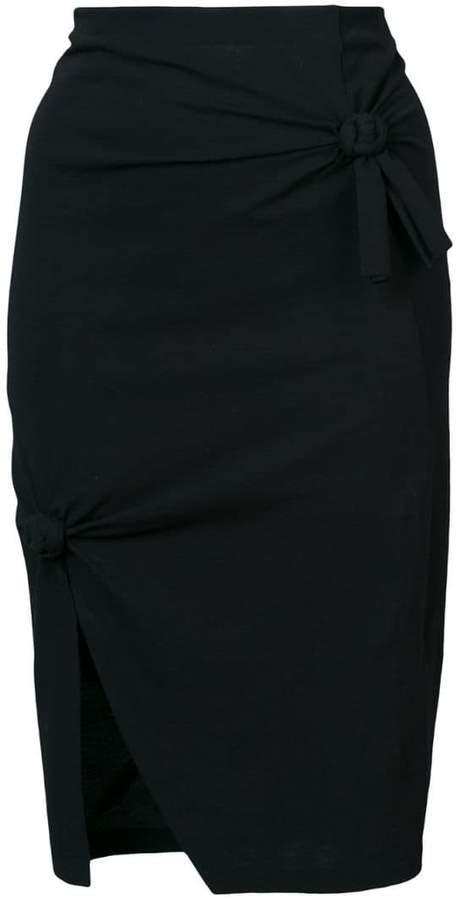 knot detail skirt