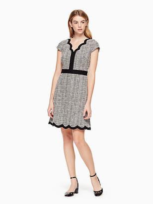Kate Spade Scallop tweed dress