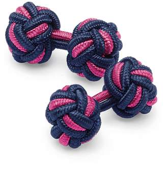 Charles Tyrwhitt Navy and Pink Knot Cufflinks