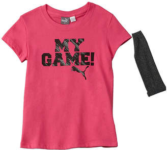 Puma Girls' 2Pc Top & Headband Set