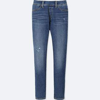 Uniqlo Girl's Skinny Ultra Stretch Damaged Denim