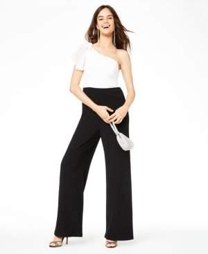 City Studios Juniors' One-Shoulder Glitter Jumpsuit, Created for Macy's
