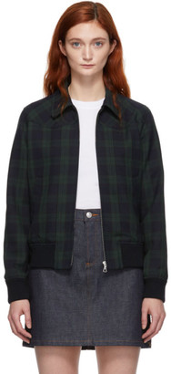 A.P.C. Green and Navy Candem Jacket