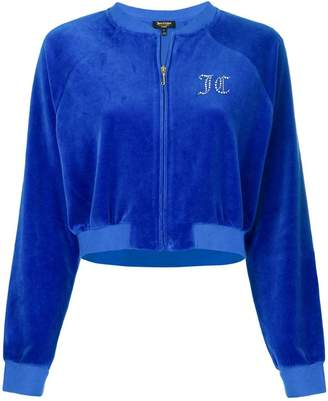 Juicy Couture Swarovski Personalisable Velour Crop Jacket