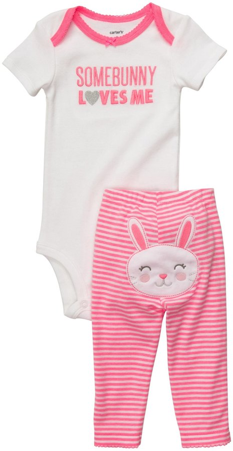 Carter's 2-Piece Set With Back Art - Girl-NB
