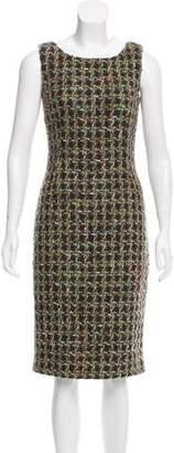 Dolce & Gabbana Bouclé Virgin Wool Dress