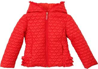 Billieblush Hearts Quilted Nylon Puffer Jacket