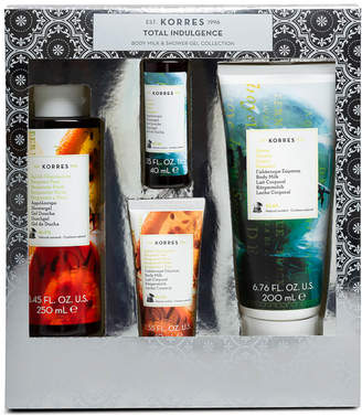 Korres Total Indulgence Bergamot Pear and Guava Body Milk and Shower Gel Collection (Worth 24.00)