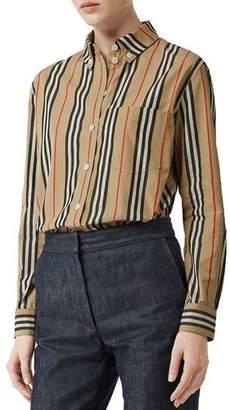 Burberry Guan Long-Sleeve Striped Shirt