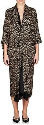 Balenciaga Women's Leopard-Print Layered Midi-Dress - Beige, Tan