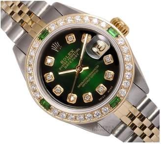 Rolex Vintage Lady DateJust 26mm Green Steel Watches