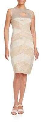 Jax Cutout Lace-Panel Sheath Dress