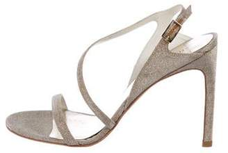 Stuart Weitzman Glitter Ankle Strap Sandakls