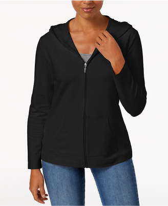 Karen Scott Solid Hooded Jacket