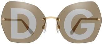Dolce & Gabbana DG2204 Irregular Sunglasses