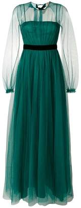 No.21 open back tulle gown