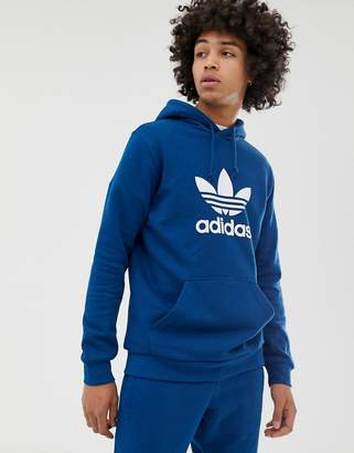 adidas Hoodie with Trefoil logo in blue