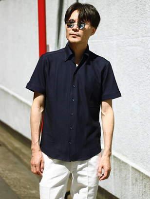Men's Bigi (メンズ ビギ) - MEN'S BIGI カットソー素材 半袖シャツ/クールビズ メンズ ビギ シャツ/ブラウス