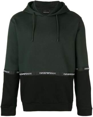 Emporio Armani logo band hoodie