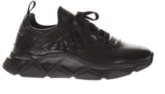 Frankie Morello Black Leather & Nylon Sneakers
