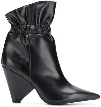 Anna F. cone heel ankle boots