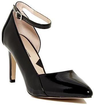 Adrienne Vittadini Nili Ankle Strap Pump $99 thestylecure.com