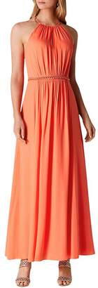 Karen Millen Chain-Trim Maxi Dress