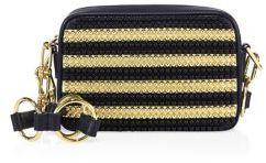 MICHAEL Michael KorsMichael Kors Collection Julie Small Studded Stripe Leather Camera Bag
