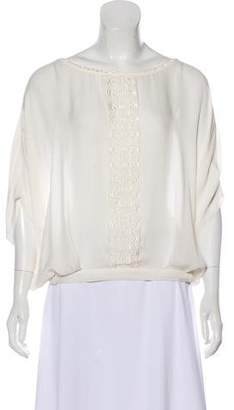Chelsea Flower Embroidered Silk Blouse