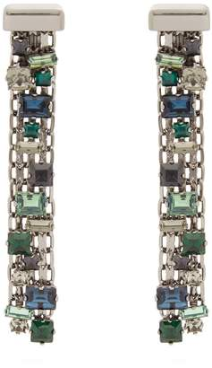 Lanvin Crystal-drop clip-on earrings