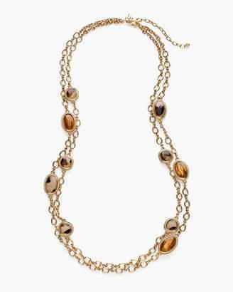 Reversible Leopard-Print Double-Strand Necklace