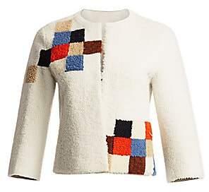 Akris Punto Women's Pixel Intarsia Shearling Jacket