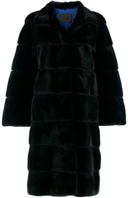 Liska ribbed midi fur coat