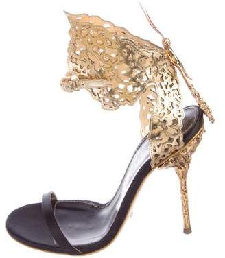 Sergio Rossi Metallic Butterfly Sandals