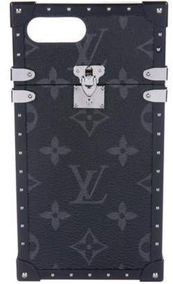 Louis Vuitton 2017 Monogram Eclipse Eye-Trunk iPhone 7 Plus Case Black 2017 Monogram Eclipse Eye-Trunk iPhone 7 Plus Case