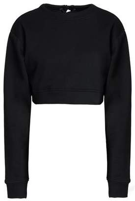 Walter W118 By Baker Nicole Lace-Up Cropped Cotton-Blend French Terry Sweatshirt