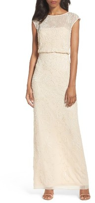 Women's Adrianna Papell Beaded Blouson Gown $349 thestylecure.com