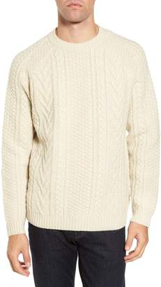 Schott NYC Fisherman Knit Wool Blend Sweater