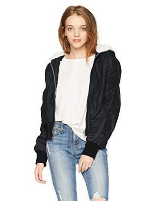 Pink Platinum Junior's Lamb Touch PU Jacket