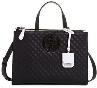 Guess G-Lux Quilted Satchel Bag $118 thestylecure.com