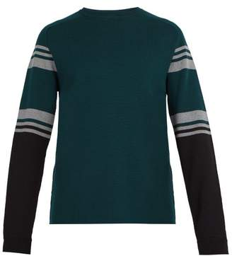 Aztech Mountain Ski Club Striped Wool Sweater - Mens - Green Multi