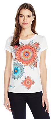 Desigual Women's Mary Knitted 3/4 Sleeve T-Shirt