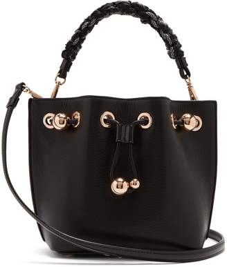 Sophia Webster Romy woven handle leather bucket bag