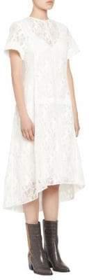 Chloé Horse Print Lace Short Sleeve Dress