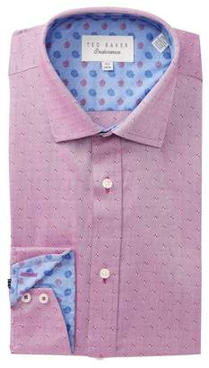 Ted Baker Woven Geo Trim Fit Dress Shirt