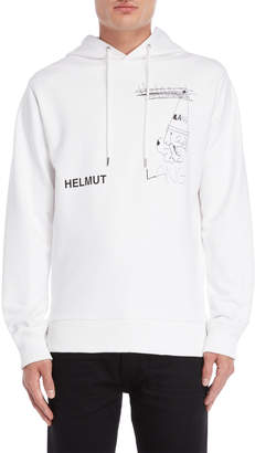 Helmut Lang Puppy Graphic Pullover Hoodie